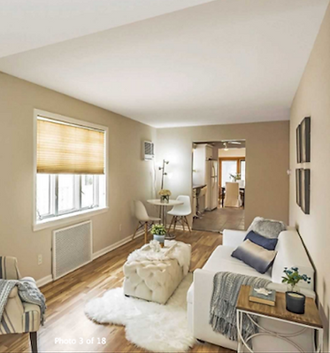 Staged Long Island | Staging Your Home For Sale | Home Stager | Increase Value | Sell Your Home | Family Room | Small Space | Walk Way | After Staging