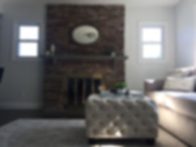 Staged Long Island | Staging Your Home For Sale | Home Stager | Staging is Great for Home Flipping | Increase Value | Sell Your Home | Living Room with Stone Fire Place | After Staging