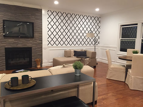 Staged Long Island | Staging Your Home For Sale | Home Stager | Increase Value | Sell Your Home | Extra Large Family Room and Dining Area | After Staging