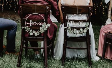Hochzeitsdekoration Anhänger forever tog
