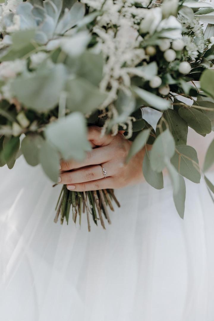 Brautstrauß Greenery Hochzeit Wolke7Wedd
