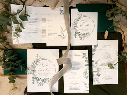 Papaterie Greenery Hochzeit Wolke7Weddin