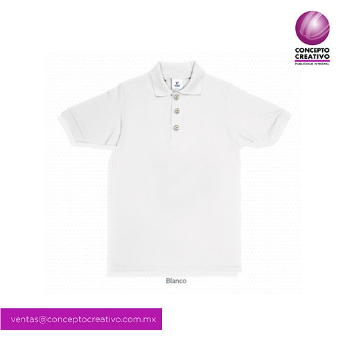 Playera Tipo Polo Blanca