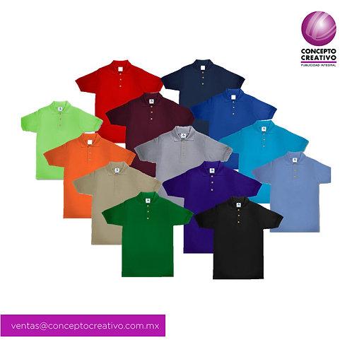 Playera Tipo Polo Color