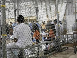 La Jaula de los niños migrantes de Estados Unidos.