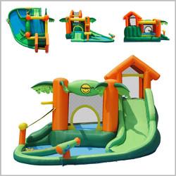 Castelo insuflável aquático Happy Hop - Tropical play centre - 9364