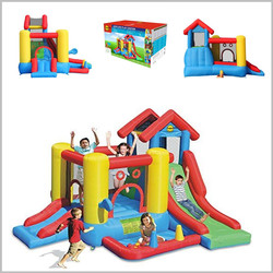 Castelo insuflável Happy Hop - 7 in 1 Play House - 9019