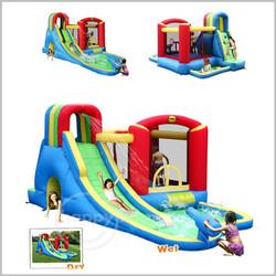 Castelo insuflável aquático Happy Hop - Splash Wave Fun Zone - 9047N