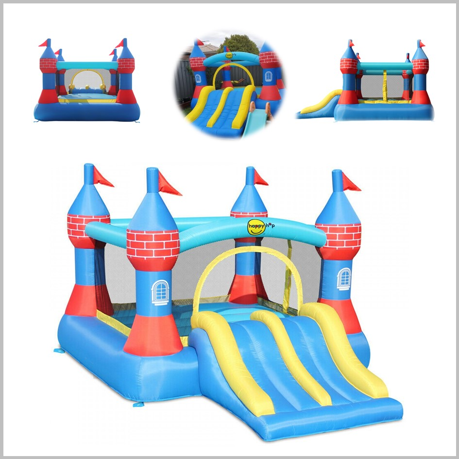 Castelo insuflável Happy Hop - Castle Bouncer Dobble Slide - 9512