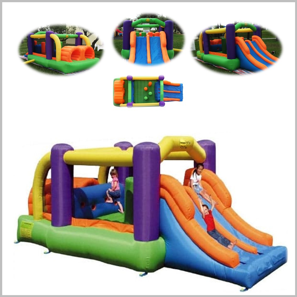 Castelo insuflável Happy Hop - Obstacle Course Bouncer - 9063