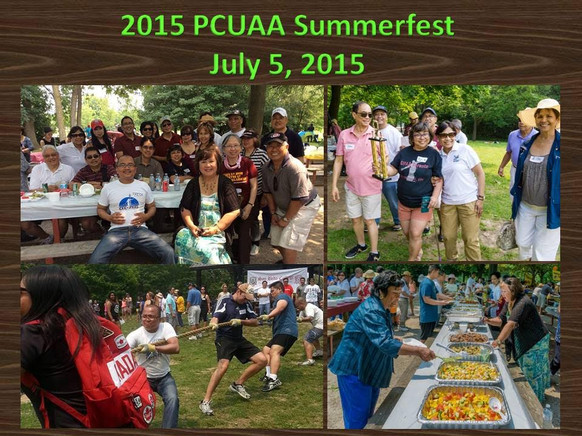 Summer fun in the sun during our 2015 PCUAA Summerfest