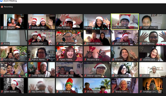 UPAAT's First Virtual Holiday Party: Ingenious activities with messages of hope and faith