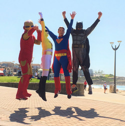 Leaping Superheroes