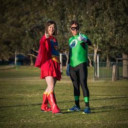 Superwoman and Green Lantern
