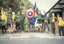 Captain America leap MBPS #superherowalk