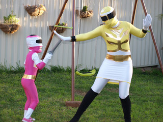 Introducing Mega Ranger and Power Ranger!