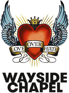 Wayside Chapel logo - black text, transp
