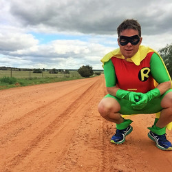 Robin on the road