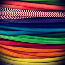 Nuevos cables textiles para tus lamparas de mimbre