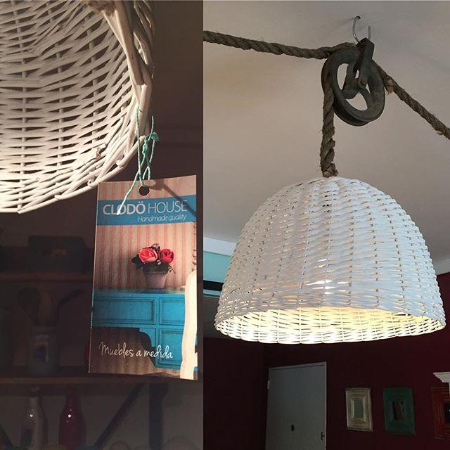 Lámparas de mimbre, en varios colores #luz #clodo #deco #lamparas