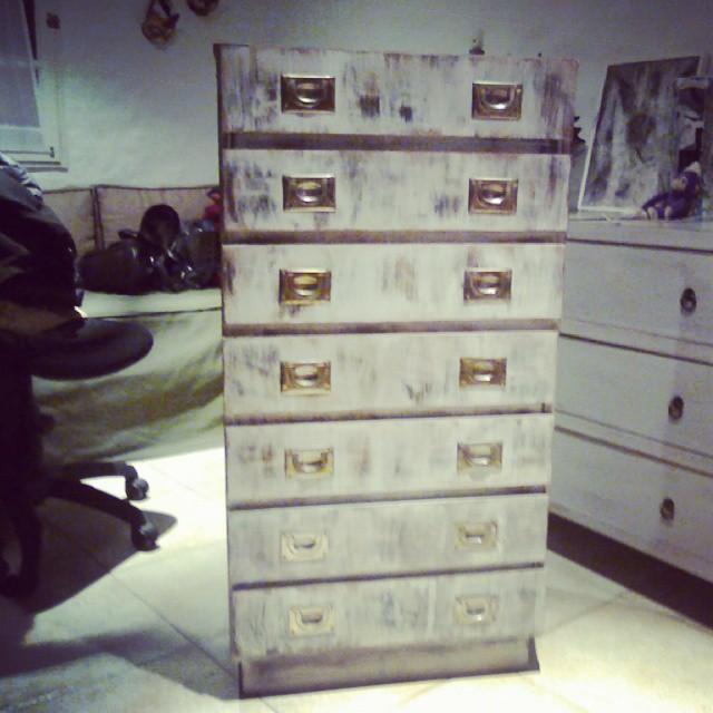 Mueble restaurado y patinado!!