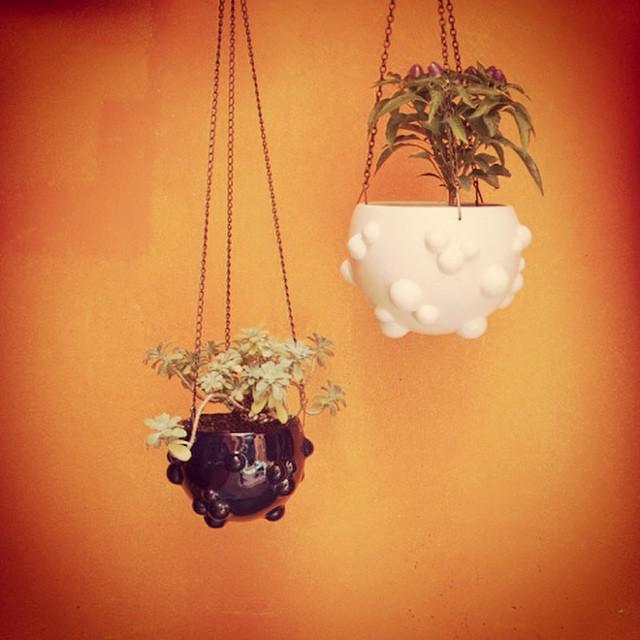 Macetas colgantes ! #buenosaires #argentina #clodohouse #diseño #macetas #ceramica #diseño #decoraci