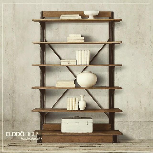 Estantería madera con hierro! #clodohouse #buenosaires #argentina #furniture #wood #estiloindustrial