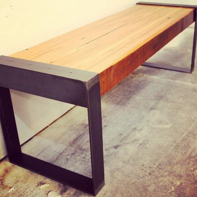 Banco en hierro y madera #iron #furniture #clodohouse #muebles #wood #diseño #balcon #buenosaires #a