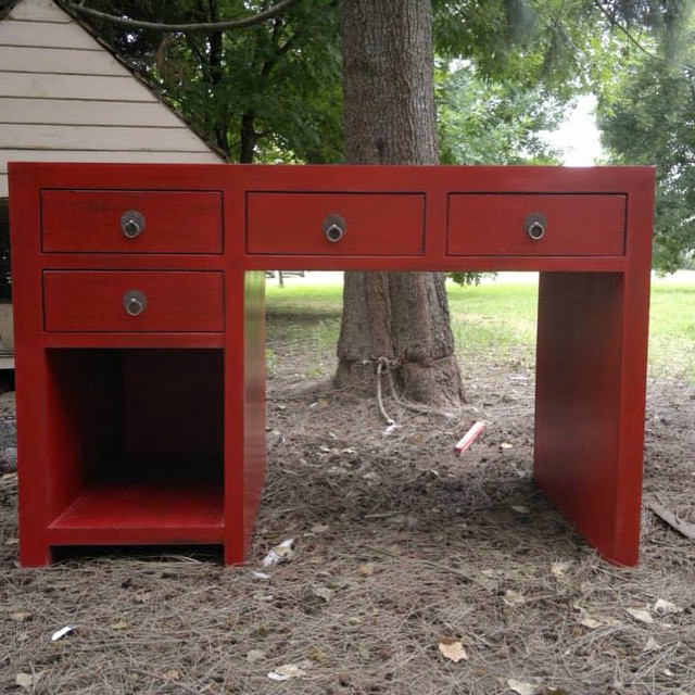 #escritorio #red #vintage #wood #style #furniture #design #clodohouse #devoto #muebles #buenosaires