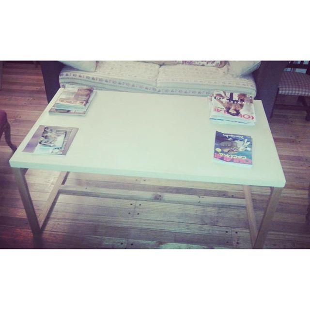 Mesa ratona microcemento y madera!