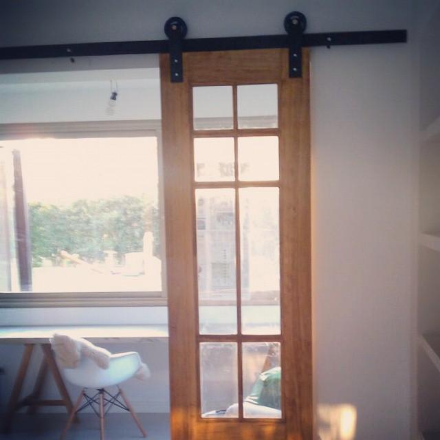 Puertas deco de madera y vidrio