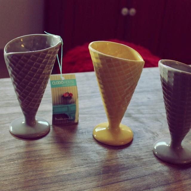Tomate un rico helado en los cucu de ceramica!!! #cucuruchos #helado #ceramica #postre