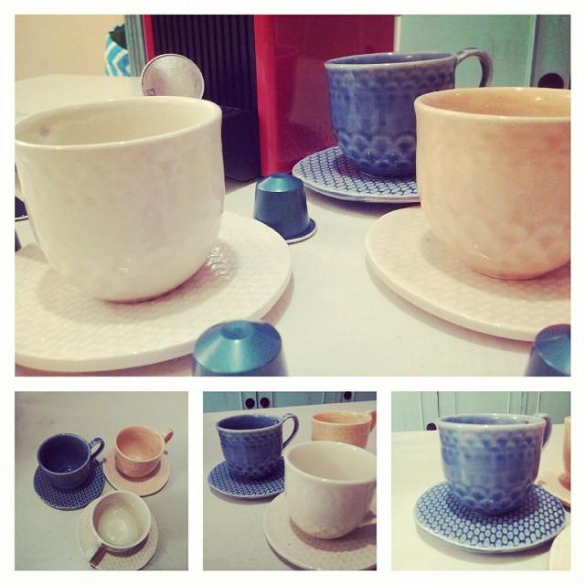 Juego de tazas de café de cerámica