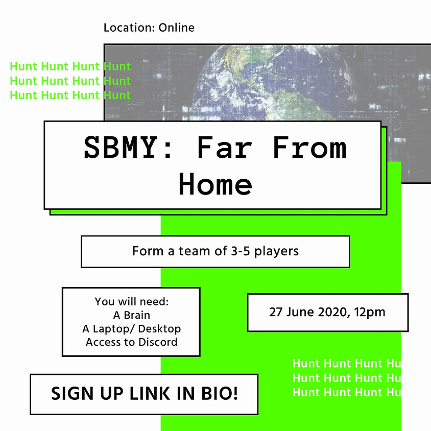SBMY: Far From Home - An online treasure hunt