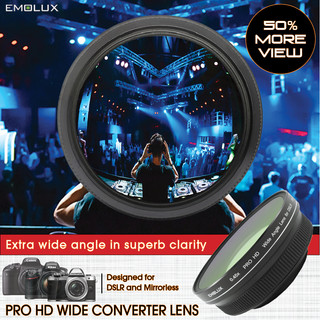 [For DSLR and Mirrorless] Emolux PRO HD 0.45x Wide Converter Lens (58mm)