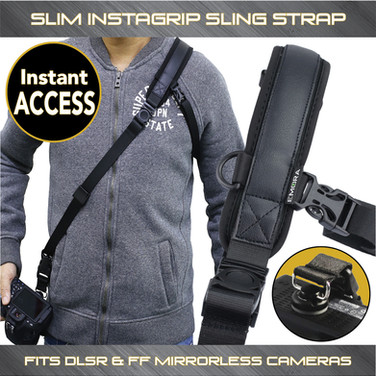 SLIM Instagrip Soft Neoprene Quick Access Sling Shoulder Strap for FF mirrorless and compact DSLR cameras