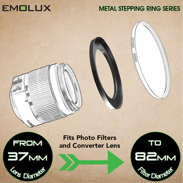 Stepping Ring ★Camera Lens to Filter/Converter Lens/Cap★ for DSLR and mirrorless cameras