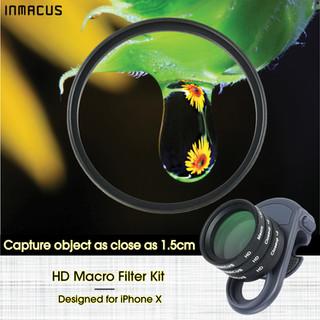 [For iPhone X] +23 3 pcs HD Optical Glass Macro Camera Lens Filter Kit with +5 Closeup, +8 Closeup and +10 Macro Filter
