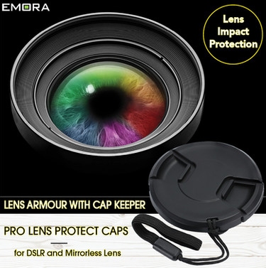 PRO Impact Protection Lens Cap with cap keeper (attaches to lens barrel/body strap attachment)