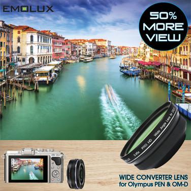 [For Olympus PEN & OM-D] Emolux PRO HD 0.45x Wide Converter Lens (37mm)