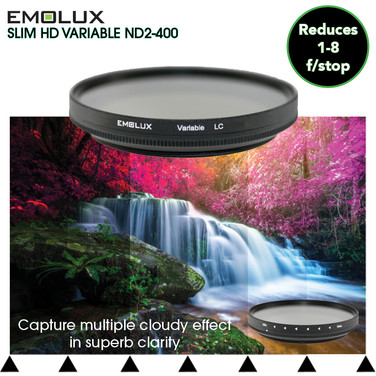 Digital SLIM HD Variable ND2-400 Light Control Filter for wide angle lens to telephoto up to 300mm