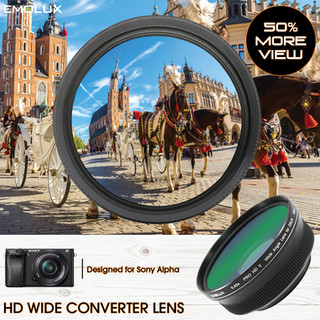 [For Sony Alpha] Emolux PRO HD 0.45x Wide Converter Lens for A5xxx/A6xxx with EPZ 16-50mm OSS (40.5mm)