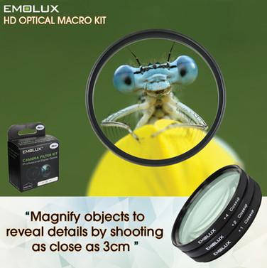 Digital HD Macro Optical Closeup Camera Lens Filter Kit