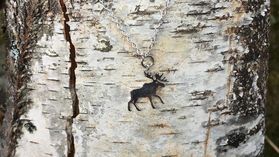 Sterling Silver Bull Moose Pendant