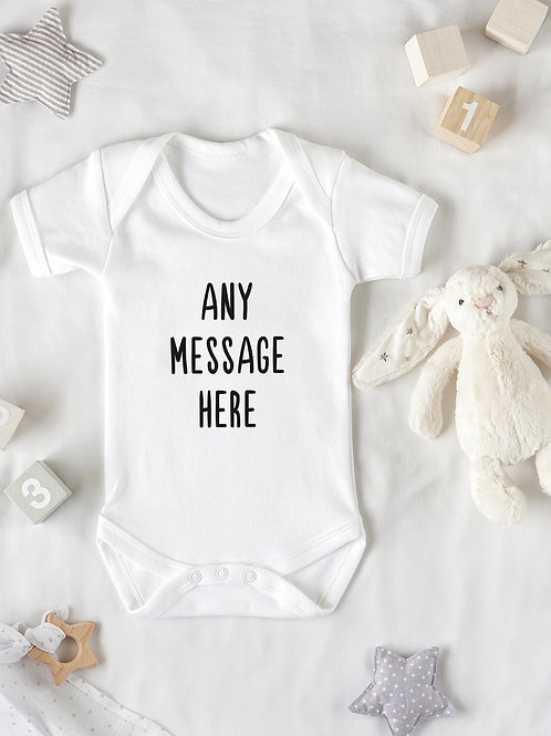 Any Message Baby Grow