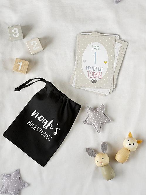 Baby Milestone Cards in Bag