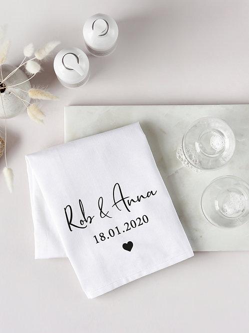 Couple Date Tea Towel