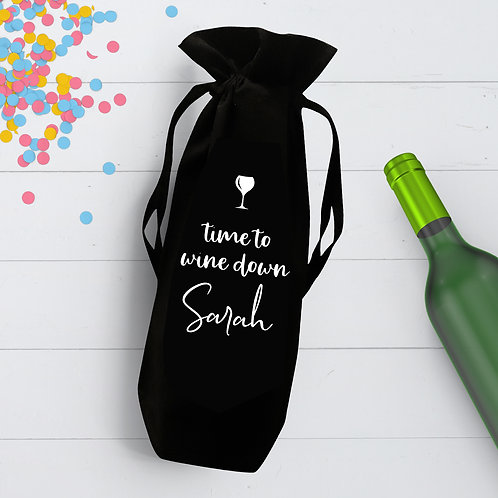 Time to Wine Down Bottle Bag