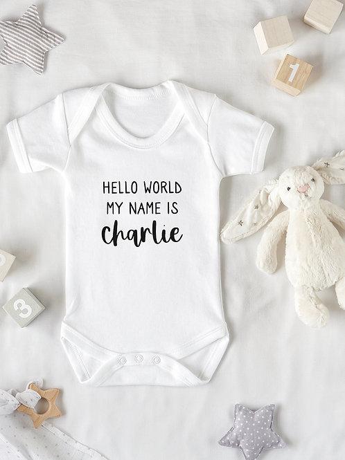 Hello World Baby Grow