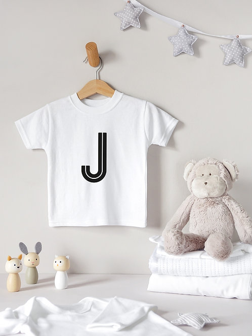 Large Initial Baby T-Shirt